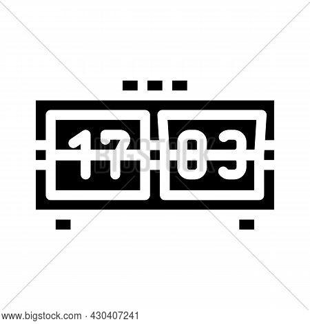 Mechanical Clock Glyph Icon Vector. Mechanical Clock Sign. Isolated Contour Symbol Black Illustratio