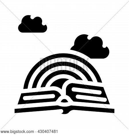 Story Book Fairy Tale Glyph Icon Vector. Story Book Fairy Tale Sign. Isolated Contour Symbol Black I