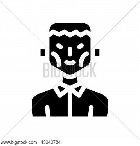 Frankenstein Fantasy Character Glyph Icon Vector. Frankenstein Fantasy Character Sign. Isolated Cont