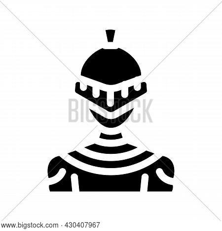 Knight Fantasy Character Glyph Icon Vector. Knight Fantasy Character Sign. Isolated Contour Symbol B