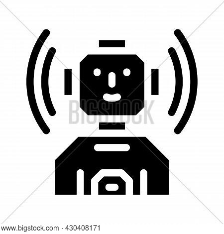 Robot Fantasy Character Glyph Icon Vector. Robot Fantasy Character Sign. Isolated Contour Symbol Bla