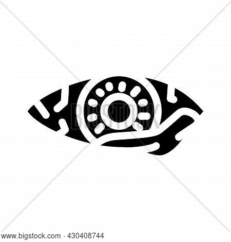 Eye Infection Ophthalmology Glyph Icon Vector. Eye Infection Ophthalmology Sign. Isolated Contour Sy