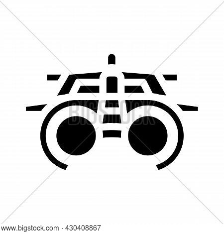Trial Frame Ophthalmology Glyph Icon Vector. Trial Frame Ophthalmology Sign. Isolated Contour Symbol