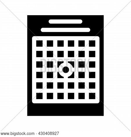 Amsler Table Ophthalmology Glyph Icon Vector. Amsler Table Ophthalmology Sign. Isolated Contour Symb