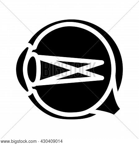 Astigmatism Ophthalmology Glyph Icon Vector. Astigmatism Ophthalmology Sign. Isolated Contour Symbol