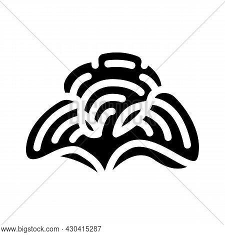 Padina Seaweed Glyph Icon Vector. Padina Seaweed Sign. Isolated Contour Symbol Black Illustration