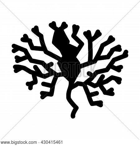 Irish Moss Seaweed Glyph Icon Vector. Irish Moss Seaweed Sign. Isolated Contour Symbol Black Illustr