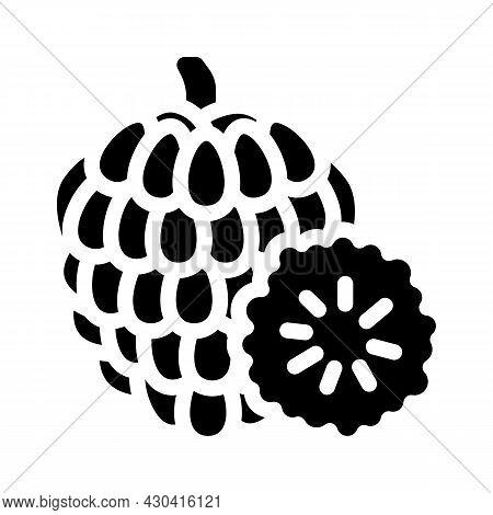 Custard Apple Fruit Glyph Icon Vector. Custard Apple Fruit Sign. Isolated Contour Symbol Black Illus