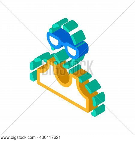 Invisible Fantasy Character Isometric Icon Vector. Invisible Fantasy Character Sign. Isolated Symbol