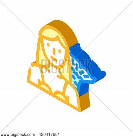 Mermaid Fantasy Character Isometric Icon Vector. Mermaid Fantasy Character Sign. Isolated Symbol Ill