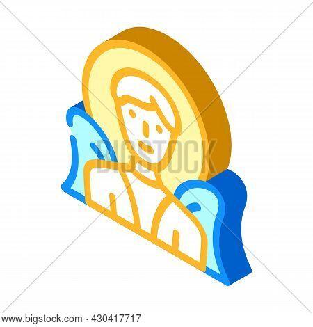 Angel Fantasy Character Isometric Icon Vector. Angel Fantasy Character Sign. Isolated Symbol Illustr