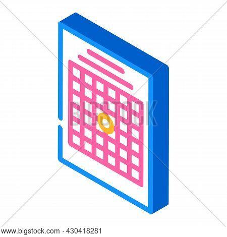 Amsler Table Ophthalmology Isometric Icon Vector. Amsler Table Ophthalmology Sign. Isolated Symbol I