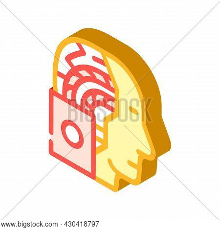 Artificial Intelligence Robot Isometric Icon Vector. Artificial Intelligence Robot Sign. Isolated Sy