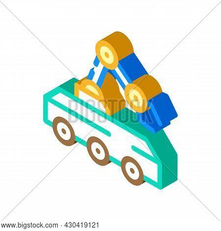 Mine Neutralization Robot Isometric Icon Vector. Mine Neutralization Robot Sign. Isolated Symbol Ill