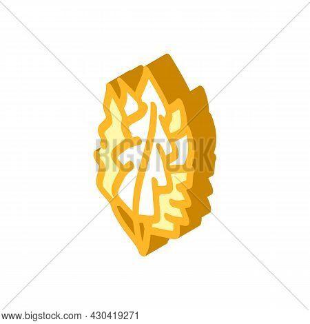 Japanese Kelp Seaweed Isometric Icon Vector. Japanese Kelp Seaweed Sign. Isolated Symbol Illustratio