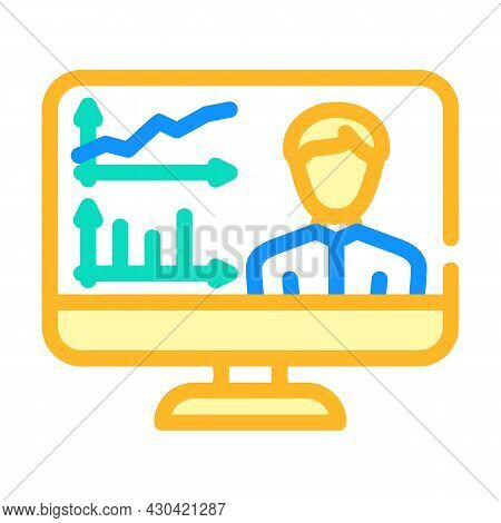 Skills Researching Online Color Icon Vector. Skills Researching Online Sign. Isolated Symbol Illustr