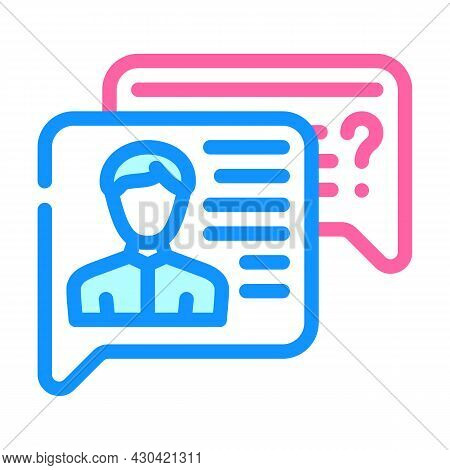 Employee Discussion Color Icon Vector. Employee Discussion Sign. Isolated Symbol Illustration