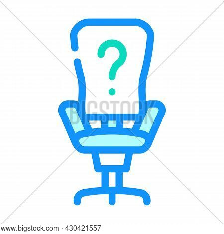 Employee Search Color Icon Vector. Employee Search Sign. Isolated Symbol Illustration