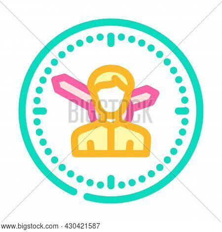 Employee Man Hours Color Icon Vector. Employee Man Hours Sign. Isolated Symbol Illustration