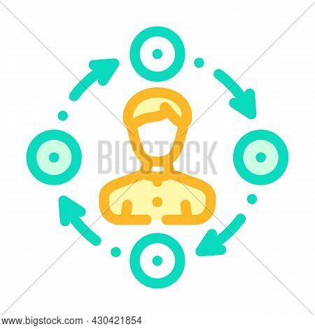 Interaction Businessman Color Icon Vector. Interaction Businessman Sign. Isolated Symbol Illustratio