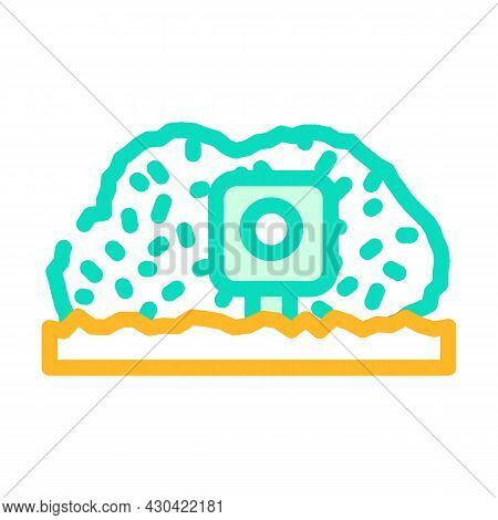 Photo Trap Gadget Color Icon Vector. Photo Trap Gadget Sign. Isolated Symbol Illustration