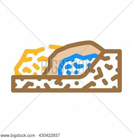 Garbage Disposal Color Icon Vector. Garbage Disposal Sign. Isolated Symbol Illustration