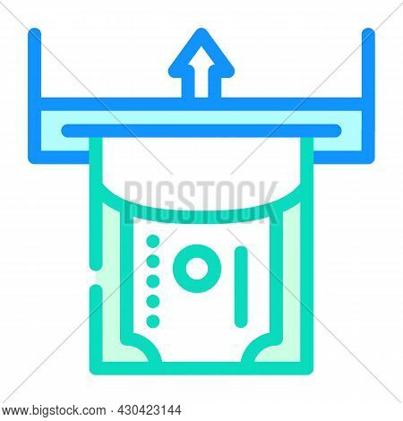 Paper Money Acceptance Color Icon Vector. Paper Money Acceptance Sign. Isolated Symbol Illustration