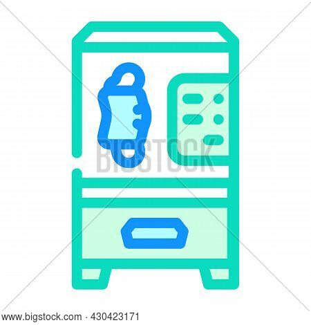 Medical Facial Mask Vending Machine Color Icon Vector. Medical Facial Mask Vending Machine Sign. Iso