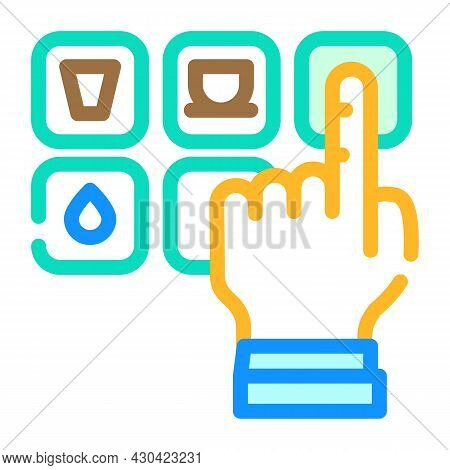Drink Choosing Color Icon Vector. Drink Choosing Sign. Isolated Symbol Illustration