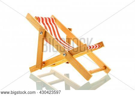 Foldable beach chair isolated over white background