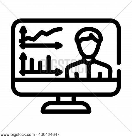 Skills Researching Online Line Icon Vector. Skills Researching Online Sign. Isolated Contour Symbol
