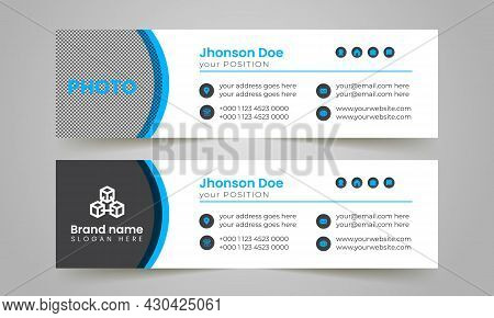 Latest Corporate And Business Email Signature Template Layout Design.