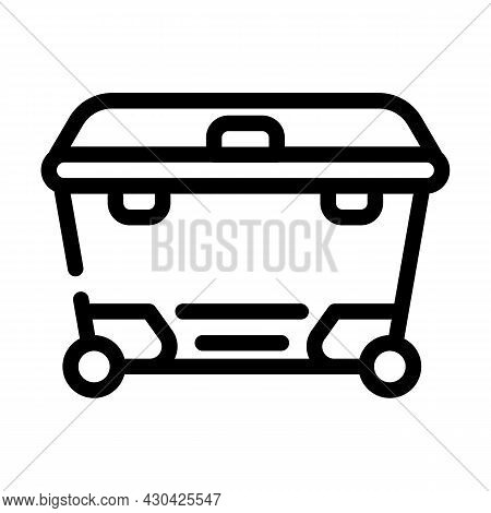Waste Container Line Icon Vector. Waste Container Sign. Isolated Contour Symbol Black Illustration