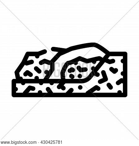 Garbage Disposal Line Icon Vector. Garbage Disposal Sign. Isolated Contour Symbol Black Illustration