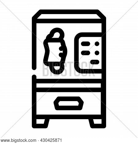 Medical Facial Mask Vending Machine Line Icon Vector. Medical Facial Mask Vending Machine Sign. Isol