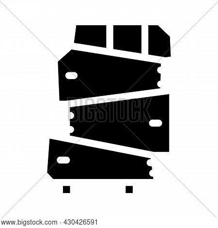 Non-standard Furniture Glyph Icon Vector. Non-standard Furniture Sign. Isolated Contour Symbol Black