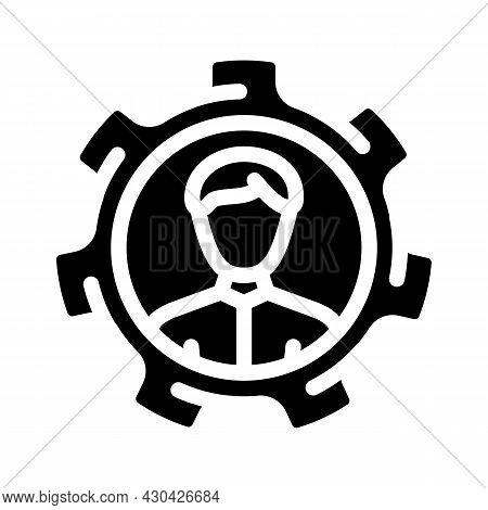 Perfectly Employee Candidate Glyph Icon Vector. Perfectly Employee Candidate Sign. Isolated Contour