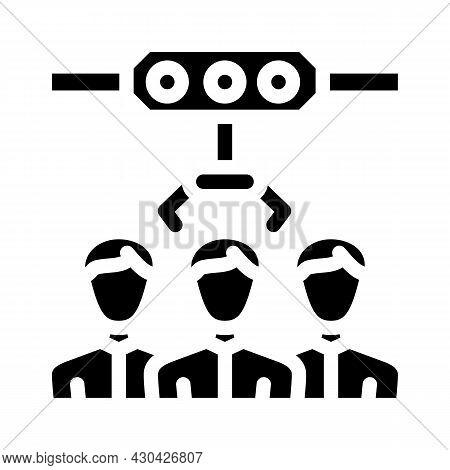 Employee Selection Glyph Icon Vector. Employee Selection Sign. Isolated Contour Symbol Black Illustr