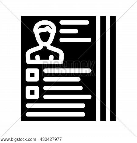 Actor Casting Glyph Icon Vector. Actor Casting Sign. Isolated Contour Symbol Black Illustration