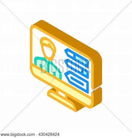 Skills Human Employee Isometric Icon Vector. Skills Human Employee Sign. Isolated Symbol Illustratio