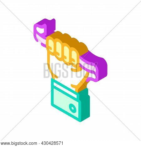 Leader Tape Isometric Icon Vector. Leader Tape Sign. Isolated Symbol Illustration