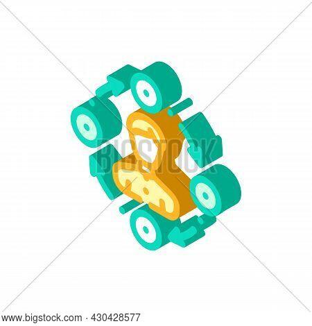 Interaction Businessman Isometric Icon Vector. Interaction Businessman Sign. Isolated Symbol Illustr