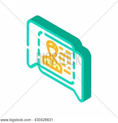 Human Discussion Isometric Icon Vector. Human Discussion Sign. Isolated Symbol Illustration