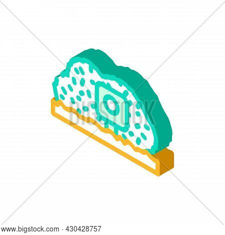 Photo Trap Gadget Isometric Icon Vector. Photo Trap Gadget Sign. Isolated Symbol Illustration