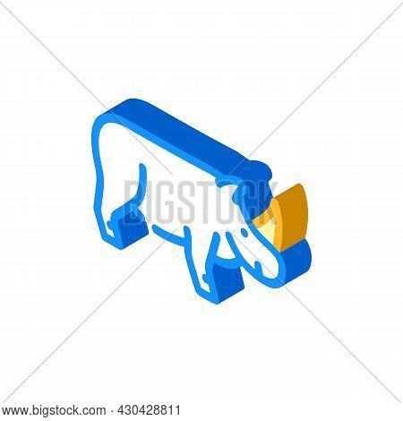 Rhinoceros Animal Isometric Icon Vector. Rhinoceros Animal Sign. Isolated Symbol Illustration