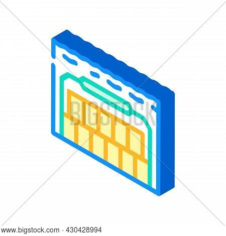 Special Underwater Burial Isometric Icon Vector. Special Underwater Burial Sign. Isolated Symbol Ill