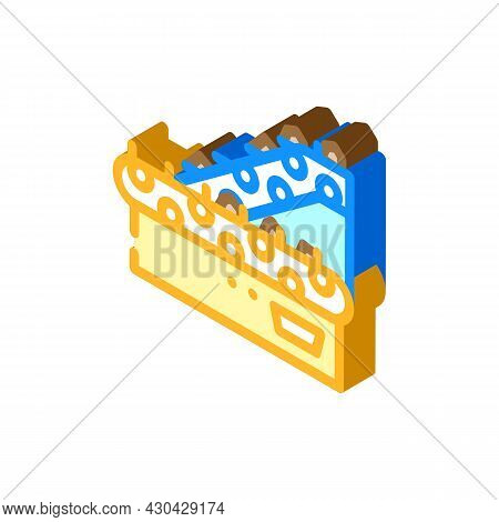 Sorting Belt Conveyor Isometric Icon Vector. Sorting Belt Conveyor Sign. Isolated Symbol Illustratio