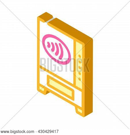 Contactless Payment Pay Pass Isometric Icon Vector. Contactless Payment Pay Pass Sign. Isolated Symb