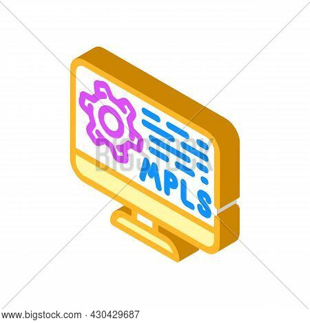 Mpls Protocol Isometric Icon Vector. Mpls Protocol Sign. Isolated Symbol Illustration