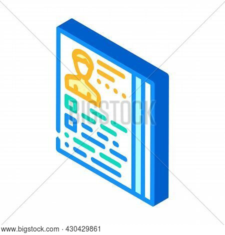 Actor Casting Isometric Icon Vector. Actor Casting Sign. Isolated Symbol Illustration